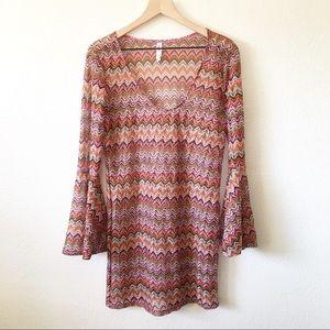 Nimes Cote d' Azur Knit Swimsuit Cover Up Dress XL